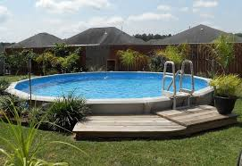 Perfect Semi Inground Pool Ideas For The Home Owners Pool Design Ideas Inground Pool Landscaping Above Ground Swimming Pools Above Ground Pool Landscaping
