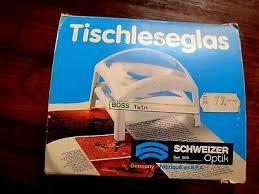 TISCH-LESEGLAS- SEHHILFE LUPE Vintage schweizer Optik-Lesehilfe Retro-  Germany - EUR 15,00 | PicClick DE