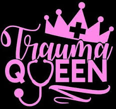 Trauma Queen Decal For Car Truck Window Window Er Nurse Funny 20 Color Options Ebay