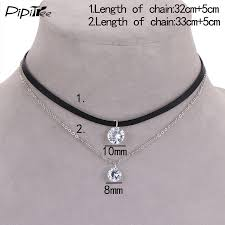 leather choker with crystal charm