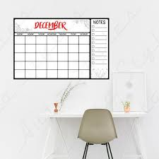 Dry Erase Board Calendar Wall Decals Peel Stick Stickers Kids Decor Vinyl Ebay