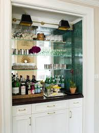 back bar mirror with glass shelves