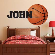 Large Basketball Wallpaper Decal Boys Basketball Wall Sticker Basketball Monogram Huge Basketball Wall Graphic Kids Room Wall Decals Basketball Wall Decals Boys Room Wallpaper
