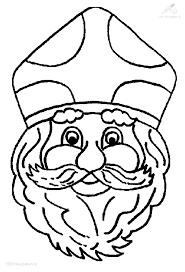 1001 Kleurplaten Sinterklaas Sint Het Hoofd Van Sinterklaas