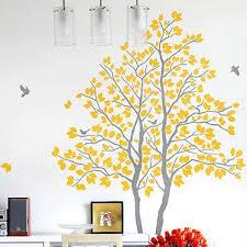 Gray Yellow Wall Sticker Amazing Stickers Via Ebay Tree Wall Stickers Nursery Yellow Wall Stickers Tree Wall Stickers