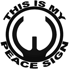 This Is My Peace Sign Gun Barrel Vinyl Decal Sticker