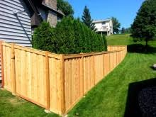 Vertical Basket Weave Cedar Fence Mn Fence Companymn Fence Company