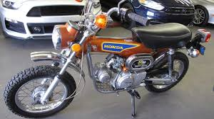 wished for an orange 1975 honda st90