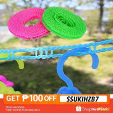 5m Windproof Washing Line Outdoor Travel Retractable Rope Washing Drying Clothes Hanger Clothesline Shopee Philippines