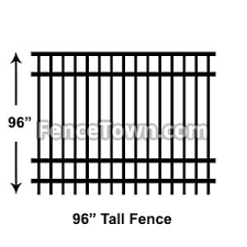 8 Foot Tall Aluminum Fence Panels 96 Inch Fence Panels Fencetown