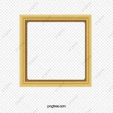 vector painted gold frame border gold
