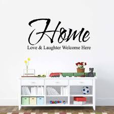 art sticker walpaper home love laughter welcome here wall stickers