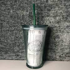 recycled glass cold tumbler