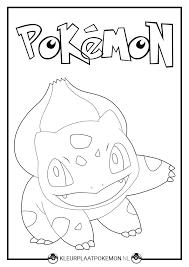Bulbasaur Kleurplaten Gratis Printen Kleurplaat Pokemon