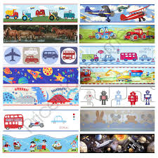 Boys Themed Wallpaper Borders Kids Bedroom Cars Dinosaur Space Wall Decor Ebay