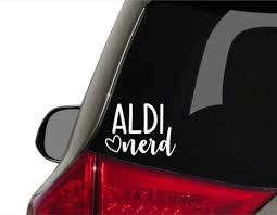 Aldi Nerd Car Decal Aldi Lover Car Decal I Love Aldi Car Decal Cookiecuttergifts In 2020 Disney Car Decals Nurse Car Decal Nurse Life Decal