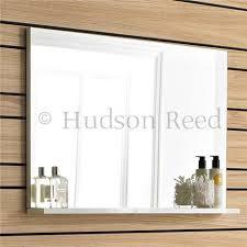 mirror with shelf white gloss