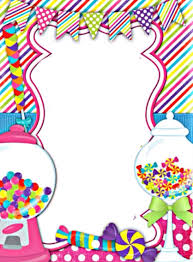 Sweet Shop Border Invitaciones Candy Land Marcos De Cumpleanos
