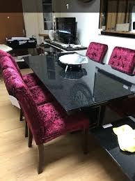 granite effect dining table and chairs