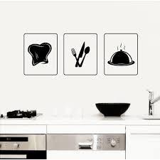 Shop Kitchen Dishes Tray Chef Hat Wall Art Sticker Decal Overstock 11179693