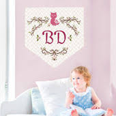 Monogram Wall Decals Stickers Custom Name Wall Decals