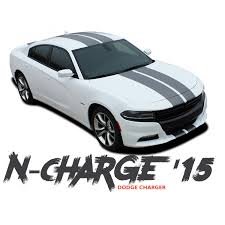 Dodge Charger N Charge Rally 10 Inch Racing Stripe Rally Hood Vinyl Graphics Decal Stripe Kit For 2015 2016 2017 2018 2019 2020 Dodge Charger Stripe Kit Racing Stripes