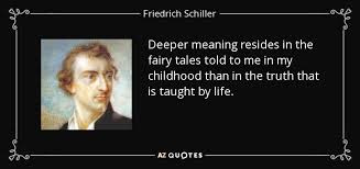 friedrich schiller quote deeper meaning resides in the fairy