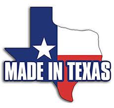 Amazon Com American Vinyl Texas Shaped Made In Texas Sticker Love Tx Texan Born Native Automotive
