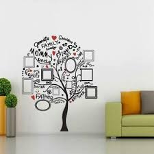 Family Tree Bicolor Wall Sticker Decal Home Decor Art Family Pictures St300 Ebay