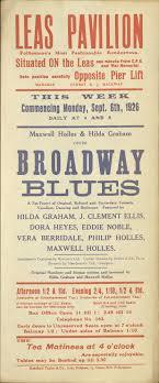 Poster for 'Broadway Blues' - Leas Pavilion Archive