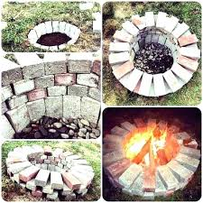 brick fire pit ideas outdoor brick fire