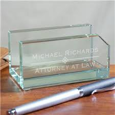 personalized gl business card holder