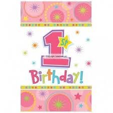 1st Birthday Girl Table Cover 137 X 259cms