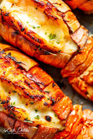Broiled Lobster Tails with Honey Garlic ...