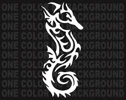 2 Tribal Seahorse Decals Stickers Bogo For Car Truck Bumper Etsy