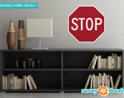 Stop Sign Decal Etsy