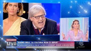 Lite in diretta tra Vittorio Sgarbi e Barbara D'Urso, che lo ...