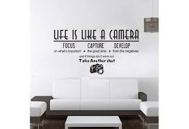 Life Is Like A Camera Wall Sticker Creative Quote Vinyl Decals Room Decoration Wall Phrases Decal Home Decor Wish