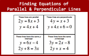 equations of parallel and perpendicular
