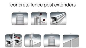 Concrete Fence Post Extenders Concrete Fence Posts Concrete Fence Fence Post