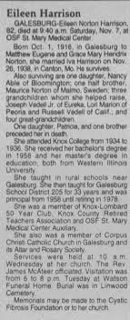 Obituary for Eileen Harrison (Aged 82) - Newspapers.com