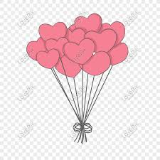 valentines day pink heart balloon png