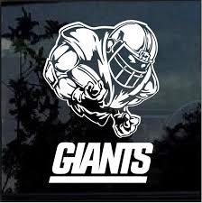 New York Giants Football Player Window Decal Sticker Custom Sticker Shop