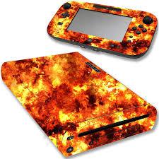 Vwaq Wii U Flame Decal Sticker Nintendo Wii U Console Fire Skin Cover