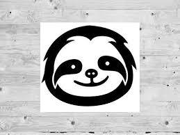 Amazon Com Sloth Decal Sloth Vinyl Decal Sloth Face Decal Sloth Sticker Sloth Custom Sticker Mirror Decal Sloth Car Decal Personalized Decal Handmade