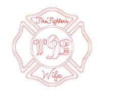 5 Firefighters Monogrammed Wife Vinyl Car Decal Whitney S Boutique Online Store Powered By Storenvy