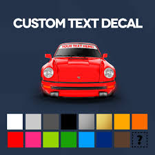 Windshield Custom Text Decal 1 Car Bone Pl