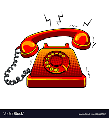 Red hot old phone pop art Royalty Free Vector Image