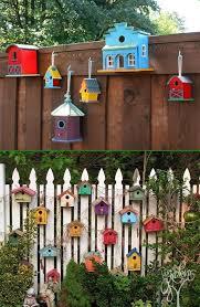 backyard garden fence decoration