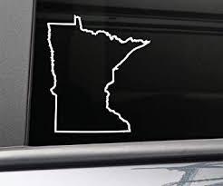 Amazon Com Minnesota Vinyl Decal Laptop Car Truck Bumper Window Sticker 5 5 X 5 White Computers Accessories